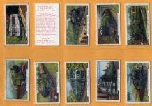 Collectable Cigarette cards set Trains of the World 1937